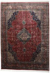 Keshan Indisk Matta 251X346 Äkta Orientalisk Handknuten Mörkröd/Svart Stor (Ull, Indien)