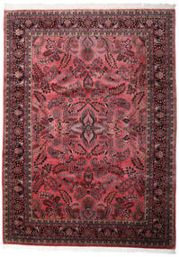 Sarough Indisk Matta 248X340 Äkta Orientalisk Handknuten Mörkbrun/Mörkröd (Ull, Indien)