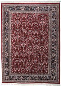 Keshan Indisk Matta 256X349 Äkta Orientalisk Handknuten Mörkbrun/Mörkröd Stor (Ull, Indien)