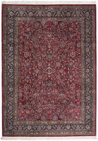 Sarough Indisk Matta 255X357 Äkta Orientalisk Handknuten Mörkbrun/Mörkröd Stor (Ull, Indien)