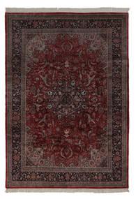 Keshan Indisk Matta 241X350 Äkta Orientalisk Handknuten Mörkröd/Mörkbrun (Ull, Indien)