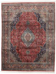 Keshan Indisk Matta 247X314 Äkta Orientalisk Handknuten Mörkröd/Mörkbrun (Ull, Indien)