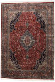 Keshan Indisk Matta 247X350 Äkta Orientalisk Handknuten Mörkröd/Mörkbrun (Ull, Indien)