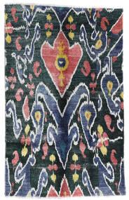 Sari Äkta Silke Matta 105X166 Äkta Modern Handknuten Mörkblå/Vit/Cremefärgad (Silke, Indien)