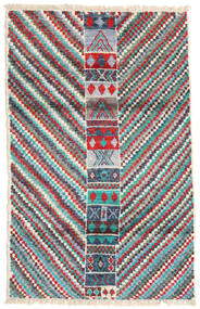 Moroccan Berber - Afghanistan Matta 119X189 Äkta Modern Handknuten Ljusgrå/Mörkgrön (Ull, Afghanistan)