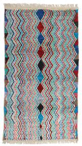 Moroccan Berber - Afghanistan Matta 105X192 Äkta Modern Handknuten Mörkröd/Beige (Ull, Afghanistan)