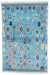 Moroccan Berber - Afghanistan Matta 88X132 Äkta Modern Handknuten Turkosblå/Beige (Ull, Afghanistan)