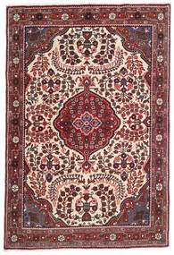 Jozan Matta 100X150 Äkta Orientalisk Handknuten Mörkröd/Mörkbrun (Ull, Persien/Iran)