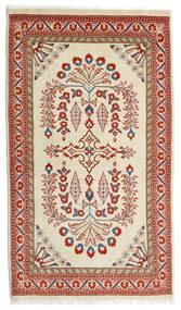 Sarough Matta 80X140 Äkta Orientalisk Handknuten Ljusgrön/Mörkröd (Ull, Persien/Iran)