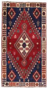 Ghashghai Matta 85X160 Äkta Orientalisk Handknuten Mörkröd/Mörkblå (Ull, Persien/Iran)