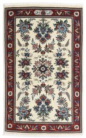 Sarough Matta 86X136 Äkta Orientalisk Handknuten Beige/Mörkbrun (Ull, Persien/Iran)