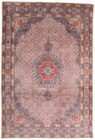 Moud Matta 210X310 Äkta Orientalisk Handknuten Ljusgrå/Ljuslila (Ull/Silke, Persien/Iran)