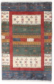 Loribaft Persisk Matta 58X90 Äkta Modern Handknuten Mörkgrå/Mörkröd (Ull, Persien/Iran)