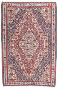 Kelim Senneh Matta 148X225 Äkta Orientalisk Handvävd Mörkgrå/Ljusgrå (Ull, Persien/Iran)