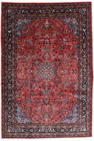 Hamadan Shahrbaf Matta 217X315 Äkta Orientalisk Handknuten Mörkröd/Mörkbrun (Ull, Persien/Iran)
