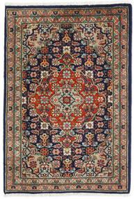 Tabriz Matta 57X82 Äkta Orientalisk Handknuten Svart/Mörkgrå (Ull, Persien/Iran)