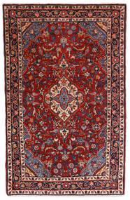 Jozan Matta 70X108 Äkta Orientalisk Handknuten Mörkbrun/Mörkröd (Ull, Persien/Iran)
