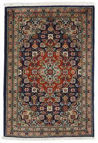 Tabriz Matta 54X82 Äkta Orientalisk Handknuten Svart/Mörkgrå (Ull, Persien/Iran)