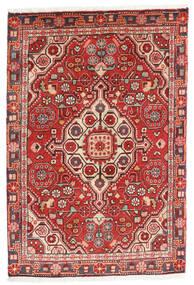 Jozan Matta 60X90 Äkta Orientalisk Handknuten Mörkröd/Roströd (Ull, Persien/Iran)