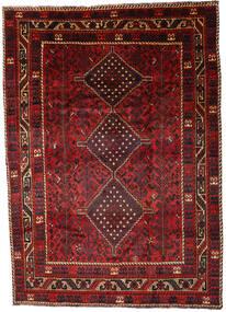 Shiraz Matta 190X265 Äkta Orientalisk Handknuten Mörkröd/Mörkbrun (Ull, Persien/Iran)