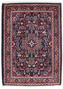 Hamadan Shahrbaf Matta 72X100 Äkta Orientalisk Handknuten Mörklila/Mörkröd (Ull, Persien/Iran)