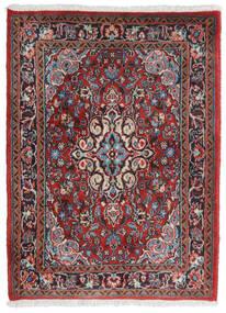 Hamadan Shahrbaf Matta 71X95 Äkta Orientalisk Handknuten Mörkröd/Ljusgrå (Ull, Persien/Iran)