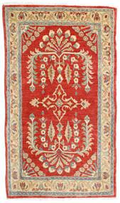 Sarough Matta 78X135 Äkta Orientalisk Handknuten Roströd/Mörkbeige (Ull, Persien/Iran)