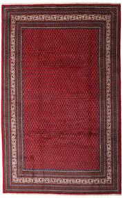 Sarough Mir Matta 200X315 Äkta Orientalisk Handknuten Mörkröd/Mörkbrun (Ull, Persien/Iran)