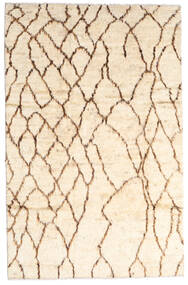 Moroccan Berber - Afghanistan Matta 187X294 Äkta Modern Handknuten Beige/Ljusrosa (Ull, Afghanistan)
