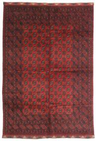 Afghan Matta 197X284 Äkta Orientalisk Handknuten Mörkröd/Mörkbrun (Ull, Afghanistan)