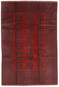Afghan Matta 195X288 Äkta Orientalisk Handknuten Mörkröd/Svart (Ull, Afghanistan)