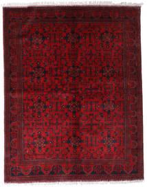 Afghan Khal Mohammadi Matta 174X220 Äkta Orientalisk Handknuten Mörkröd/Röd (Ull, Afghanistan)