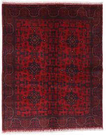 Afghan Khal Mohammadi Matta 148X187 Äkta Orientalisk Handknuten Mörkröd/Röd (Ull, Afghanistan)