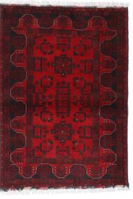 Afghan Khal Mohammadi Matta 102X140 Äkta Orientalisk Handknuten Mörkröd/Mörkbrun/Röd (Ull, Afghanistan)