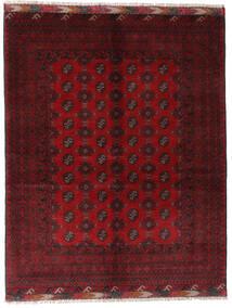 Afghan Matta 154X195 Äkta Orientalisk Handknuten Mörkröd/Röd (Ull, Afghanistan)