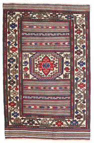 Kelim Golbarjasta Matta 95X155 Äkta Orientalisk Handvävd Mörkgrå/Brun (Ull, Afghanistan)