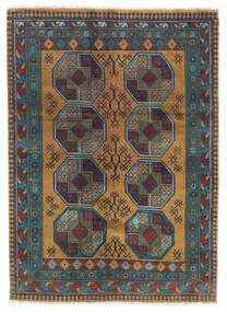 Afghan Matta 122X170 Äkta Orientalisk Handknuten Mörkgrå/Ljusbrun (Ull, Afghanistan)