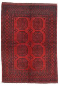Afghan Matta 172X236 Äkta Orientalisk Handknuten Mörkröd/Mörkbrun/Röd (Ull, Afghanistan)