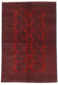Afghan Matta 160X232 Äkta Orientalisk Handknuten Mörkröd/Mörkbrun (Ull, Afghanistan)