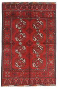 Afghan Matta 165X246 Äkta Orientalisk Handknuten Mörkröd/Roströd (Ull, Afghanistan)