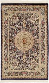 Ghom Silke Matta 99X157 Äkta Orientalisk Handknuten Mörkbrun/Brun (Silke, Persien/Iran)