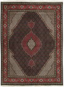 Tabriz 50 Raj Matta 150X202 Äkta Orientalisk Handknuten Mörkbrun/Mörkröd (Ull/Silke, Persien/Iran)