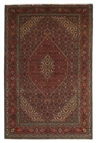 Tabriz 40 Raj Matta 201X312 Äkta Orientalisk Handknuten Mörkröd/Mörkbrun/Brun (Ull/Silke, Persien/Iran)