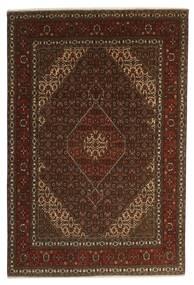 Tabriz 40 Raj Matta 196X301 Äkta Orientalisk Handknuten Mörkbrun/Brun (Ull/Silke, Persien/Iran)