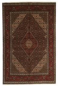 Tabriz 40 Raj Matta 200X300 Äkta Orientalisk Handknuten Mörkbrun/Brun (Ull/Silke, Persien/Iran)