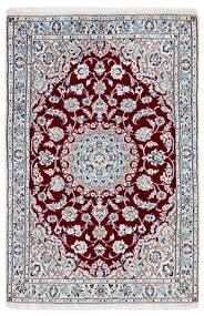 Nain 9La Matta 95X146 Äkta Orientalisk Handknuten Ljusgrå/Beige (Ull/Silke, Persien/Iran)