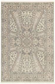 Nain 6La Matta 206X303 Äkta Orientalisk Handknuten Ljusgrå/Beige (Ull/Silke, Persien/Iran)