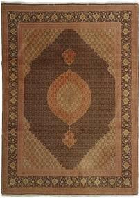 Tabriz 50 Raj Matta 254X358 Äkta Orientalisk Handknuten Brun/Mörkbrun Stor (Ull/Silke, Persien/Iran)