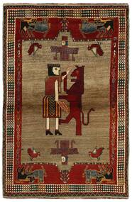 Ghashghai Matta 132X200 Äkta Orientalisk Handknuten Mörkbrun/Ljusbrun (Ull, Persien/Iran)