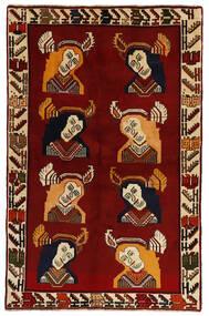Ghashghai Matta 124X195 Äkta Orientalisk Handknuten Mörkröd (Ull, Persien/Iran)